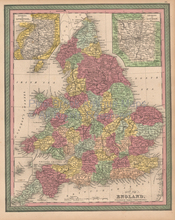 England Antique Map Cowperthwait 1853