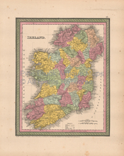 Ireland Antique Map Cowperthwait 1853