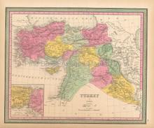 Turkey In Asia Antique Map Mitchell 1846