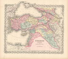 Turkey In Asia Antique Map Colton 1855