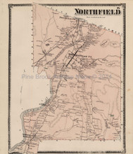 Antique Map Northfield Massachusetts Beers 1871
