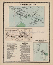 Antique Map Ashfield Plains Massachusetts Beers 1871