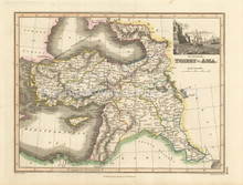 Turkey in Asia Antique Map Wyld 1827