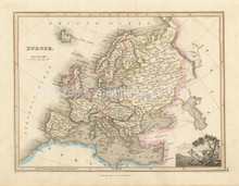 Europe Antique Map Wyld 1827