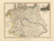 Germany Antique Map Wyld 1827