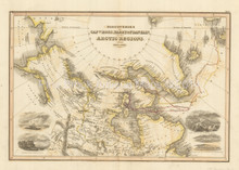 Arctic Regions Discoveries Antique Map Wyld 1827