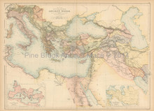 Countries Of The Ancient World Antique Map Black 1865