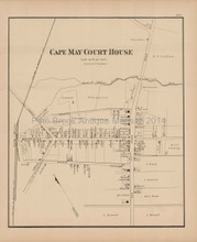 Cape May Court House New Jersey Antique Map Woolman & Rose 1878