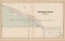 Rodgers Park New Jersey Antique Map Woolman & Rose 1878