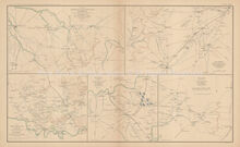 Middle Tennessee Campaign Civil War Antique Map 1895 circa