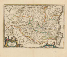 Barbastro Huesca Antique Map Jansson 1650