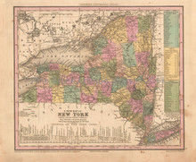 New York Antique Map Tanner 1836