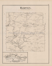 Hampton West Deer Talleycavey Pennsylvania Antique Map Hopkins 1876