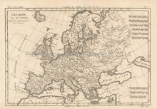 Europe Antique Map Bonne 1780