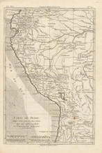 Peru Antique Map Bonne 1780