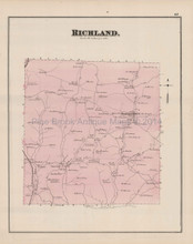 Richland Marshall Hoboken Pennsylvania Antique Map Hopkins 1876