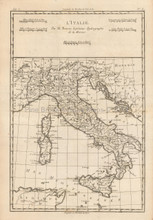 Italy Antique Map Bonne 1780