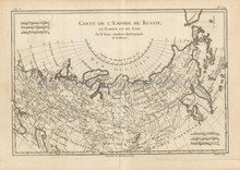 Russia Antique Map Bonne 1780