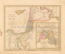Five Books Of Moses Antique Map Wilkinson 1815