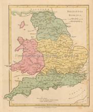 Roman Britain Antique Map Wilkinson 1815
