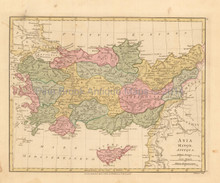 Ancient Turkey Antique Map Wilkinson 1815