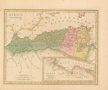 Ancient Africa Antique Map Wilkinson 1815