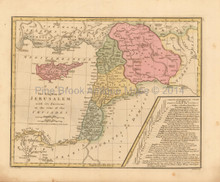 Kingdom Of Jerusalem Antique Map Wilkinson 1815