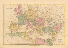 Imperial Rome Antique Map Wilkinson 1815