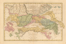 Travels Of Anacharsis Antique Map Wilkinson 1815