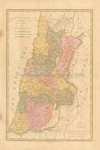 Canaan Joshua Antique Map Wilkinson 1815
