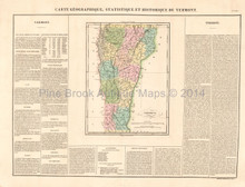 Vermont Antique Map Buchon 1825