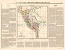Peru Antique Map Buchon 1825