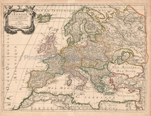Europe Antique Map Sanson 1683