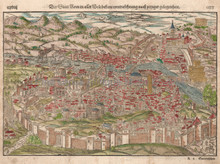 Rome Italy Antique City View Munster 1572