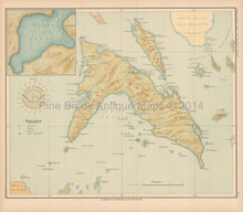 Masbate Ticao Philippine Islands Antique Map Algue 1899