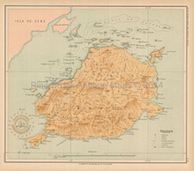 Behol Philippine Islands Antique Map Algue 1899