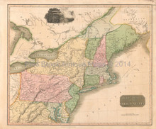 Northern Provinces United States Antique Map Thomson 1817
