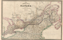 Province Of Canada Antique Map Wyld 1845