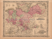 Germany No. 1 Antique Map AJ Johnson 1864