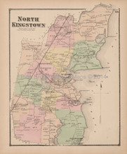 North Kingstown Rhode Island Antique Map Beers 1870