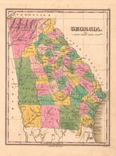 Georgia Antique Map Anthony Finley 1824