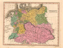 Germany Antique Map Anthony Finley 1824