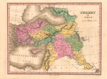 Turkey in Asia Antique Map Anthony Finley 1824