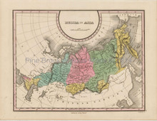 Russia Asia Antique Map Finley 1824