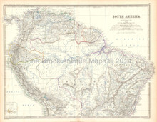 Northern South America Antique Map Home Decor History Gift Ideas Johnston 1861