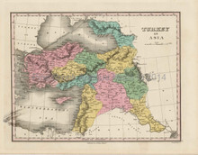 Turkey Asia Antique Map Middle East Finley 1824