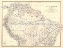 Northern South America Antique Map Decor History Gift Ideas Johnston 1864