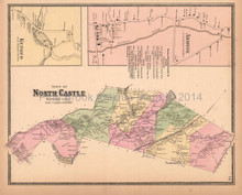 Town of North Castle New York Antique Map Beers 1867