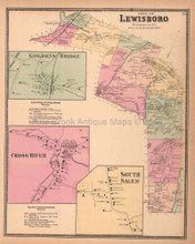 Town of Lewisboro New York Antique Map Beers 1867