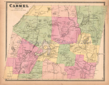 Town Of Carmel New York Antique Map Beers 1867